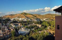 Vista panoramica sulla città Granada Fotografia Stock