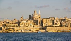 Vista panoramica a Valletta Immagine Stock Libera da Diritti