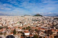 Vista panorámica de Atenas Fotos de archivo libres de regalías