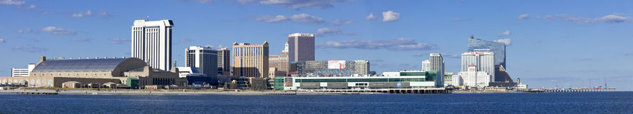Vista panorâmica de Atlantic City, New-jersey do oceano Imagens de Stock