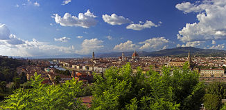 Vista panorâmica de Firenze Foto de Stock Royalty Free