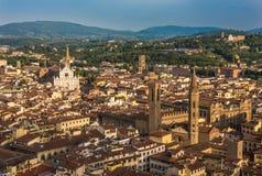 Vista panorámica de Florencia, Italia Foto de archivo libre de regalías