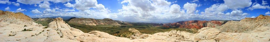 Vista panorámica de la barranca de la nieve - Utah Foto de archivo libre de regalías