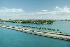 Vista panorámica de los marismas del puerto, Fort Lauderdale Foto de archivo libre de regalías
