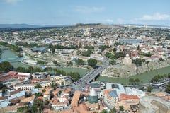 Vista panorámica de Tbilisi Imágenes de archivo libres de regalías