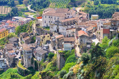 Vista panorámica de Tursi. Basilicata. Italia. Foto de archivo