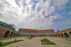 Vista panorámica del bastión Maria Theresia de Timisoara Foto de archivo libre de regalías