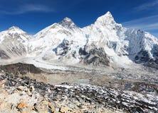 Vista panorámica del monte Everest Imágenes de archivo libres de regalías