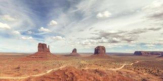 Vista panorámica del valle del monumento Imagen de archivo