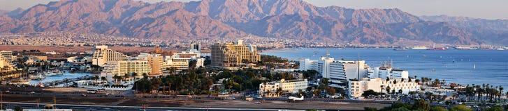 Vista panorâmico da cidade de Eilat, Israel Fotografia de Stock Royalty Free