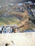 Vista panorâmico Olhar artístico em cores vívidas do vintage Fotos de Stock