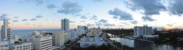 Vista panorâmica do grupo do sol de Miami Beach Foto de Stock