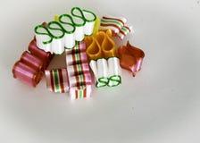 Vista para baixo em diversas partes de fita colorida e bonita Foto de Stock Royalty Free