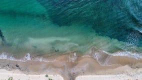 Vista para baixo em uma praia Foto de Stock Royalty Free
