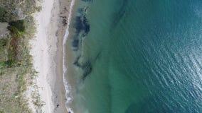 Vista para baixo em uma praia Imagem de Stock Royalty Free