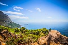 Vista para Cape Town do ponto do cabo, Afri sul Fotos de Stock