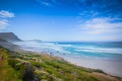 Vista para Cape Town do ponto do cabo, Afri sul Foto de Stock Royalty Free
