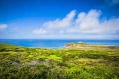 Vista para Cape Town do ponto do cabo, Afri sul Foto de Stock