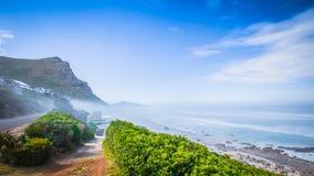 Vista para Cape Town do ponto do cabo, Afri sul Fotografia de Stock Royalty Free