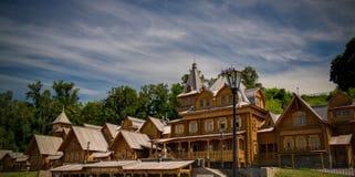 Vista para dominar a cidade na cidade de Gorodets, Rússia foto de stock royalty free