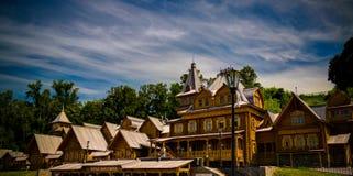 Vista para dominar a cidade na cidade de Gorodets, Rússia fotos de stock
