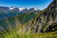 Vista para e da montagem Alyeska no Estados Unidos de Alaska de A Imagem de Stock Royalty Free