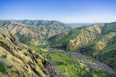 Vista para a estrada e a fuga de caminhada, garganta fria de Stebbins, Napa Valley, Califórnia fotografia de stock