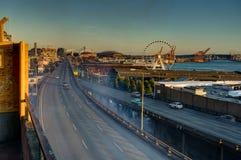 A vista para ferris roda dentro Seattle Washington United States de Foto de Stock
