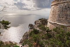 Vista para fora da torre de vigia Fotografia de Stock Royalty Free
