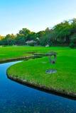 Vista para korakuen o jardim em Okayama Fotos de Stock Royalty Free