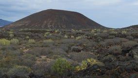 Vista para Malpais de la Rasca, Palma-março, Tenerife, Ilhas Canárias, Espanha foto de stock royalty free