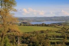 Vista para mastigar o reservatório do lago valley Fotos de Stock Royalty Free