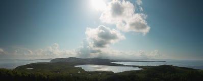 Vista para o EL Yunque do farol Fotografia de Stock