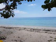 A vista para o mar do lado da praia o mar das caraíbas é negril de Jamaica do wonderfull Imagem de Stock Royalty Free