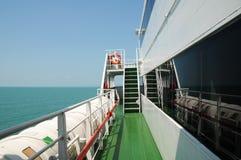 Vista para o mar do navio Fotografia de Stock