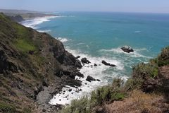 Vista para o mar do ponto áspero fotos de stock