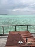 Vista para o mar do terraço Fotografia de Stock