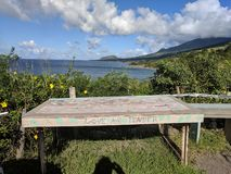 Vista para o mar em St Kitts foto de stock royalty free