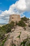 Vista para trás na torre de vigia do pirata Imagens de Stock Royalty Free