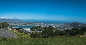 Vista para Wellington Airport New Zealand imagem de stock royalty free
