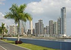 Vista parcial de los rascacielos de ciudad de Panamá Fotografía de archivo libre de regalías