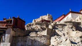 Vista parcial de ruínas de Guge Imagem de Stock Royalty Free