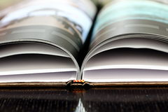 Vista parcial de un libro de la foto Fotos de archivo
