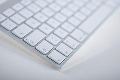 Vista parcial de un teclado de ordenador Imagen de archivo