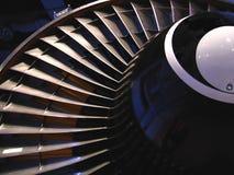 Vista parcial del motor de jet Foto de archivo libre de regalías