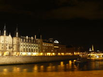 Vista Parigi II di notte Fotografie Stock