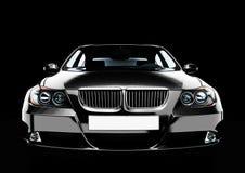 vista Parte-fronta di un'automobile della berlina di lusso Immagini Stock Libere da Diritti