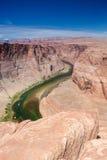 Vista parziale della curvatura a ferro di cavallo nello stato dell'Arizona, Stati Uniti o fotografia stock
