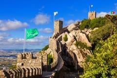 DOS Mouros di Castelo in Sintra, Portogallo immagine stock libera da diritti