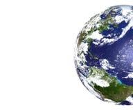 Vista parziale della terra del pianeta Immagini Stock